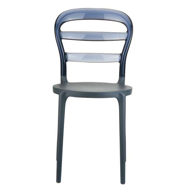 Chaise design en plexi et polypropylène - Miss Bibi 17 - 23