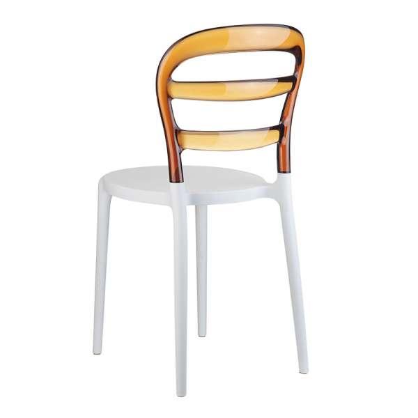 Chaise design en plexi et polypropylène - Miss Bibi 12 - 18