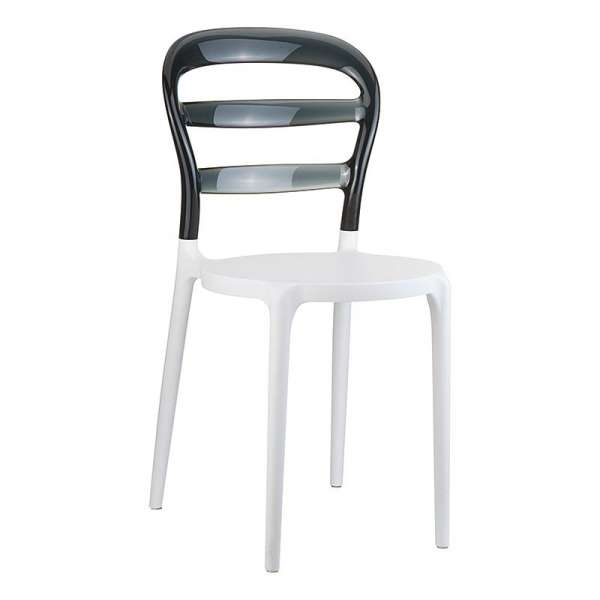 Chaise design en plexi et polypropylène - Miss Bibi 2 - 8