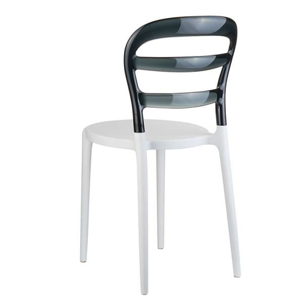 Chaise design en plexi et polypropylène - Miss Bibi 3 - 9