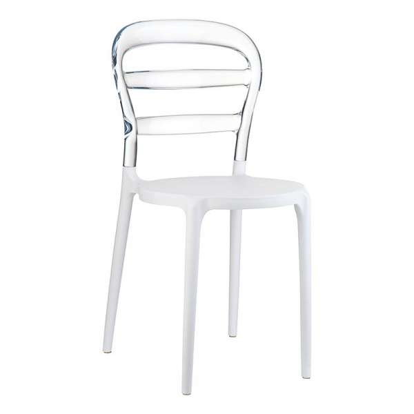 Chaise design en plexi et polypropylène - Miss Bibi 14 - 20
