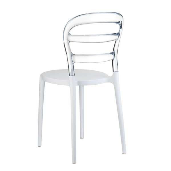 Chaise design en plexi et polypropylène - Miss Bibi 15 - 21