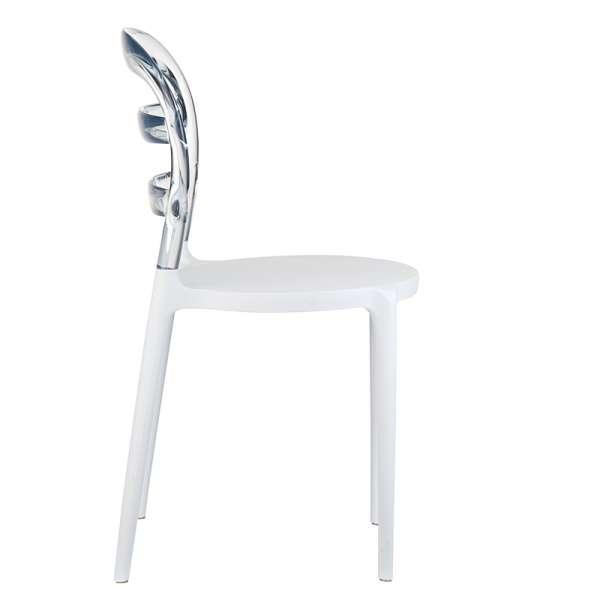 Chaise design en plexi et polypropylène - Miss Bibi 16 - 22