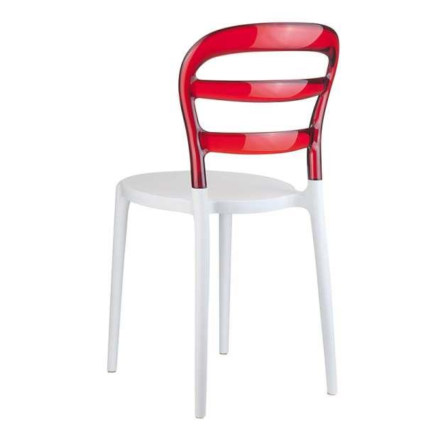 Chaise design en plexi et polypropylène - Miss Bibi 24 - 30