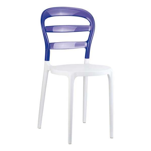 Chaise design en plexi et polypropylène - Miss Bibi 19 - 25
