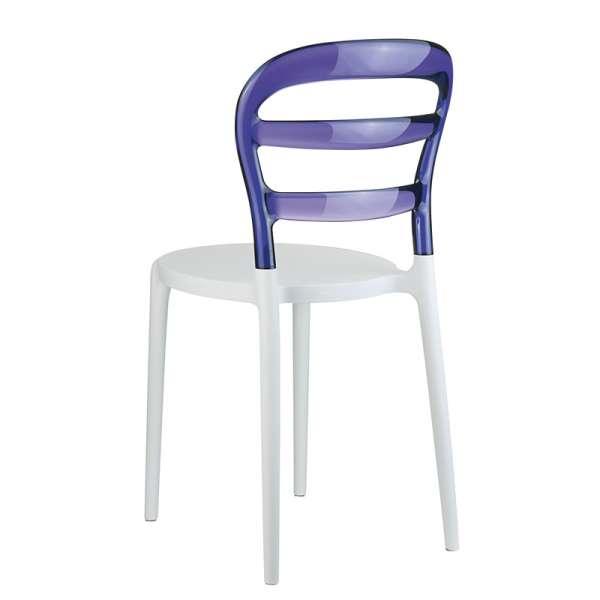 Chaise design en plexi et polypropylène - Miss Bibi 20 - 26