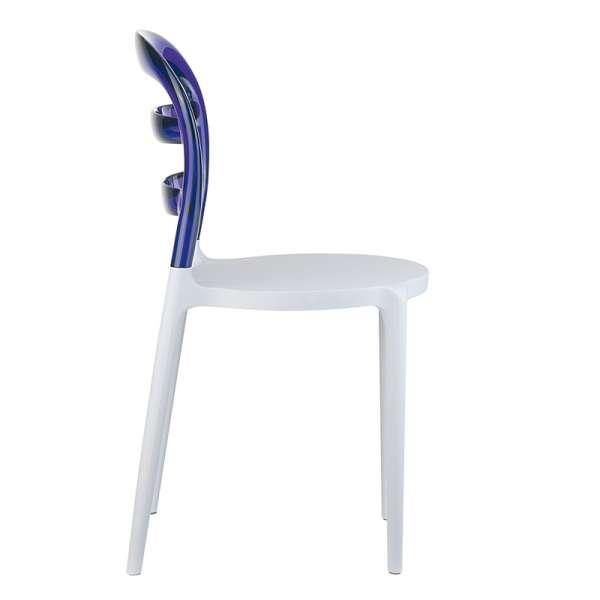 Chaise design en plexi et polypropylène - Miss Bibi 21 - 27