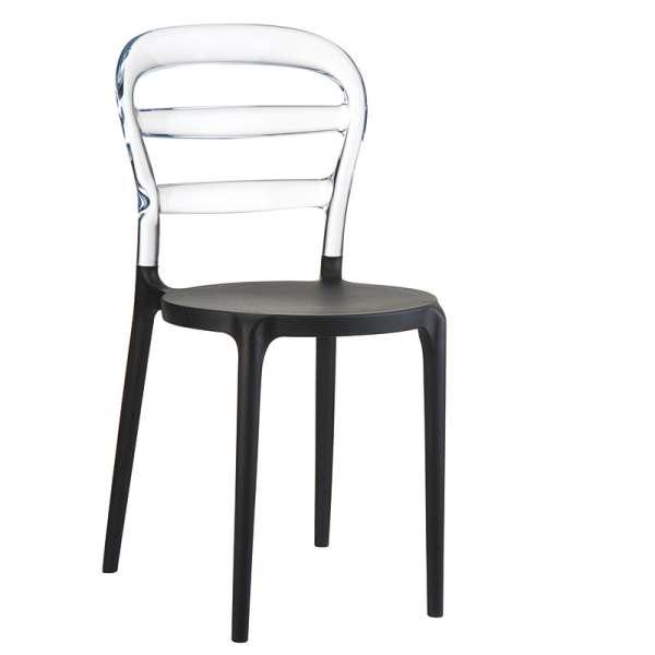 Chaise design en plexi et polypropylène - Miss Bibi 8 - 14