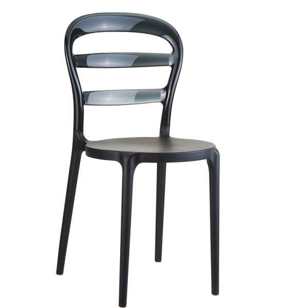 Chaise design au dossier transparent -  Miss Bibi - 5