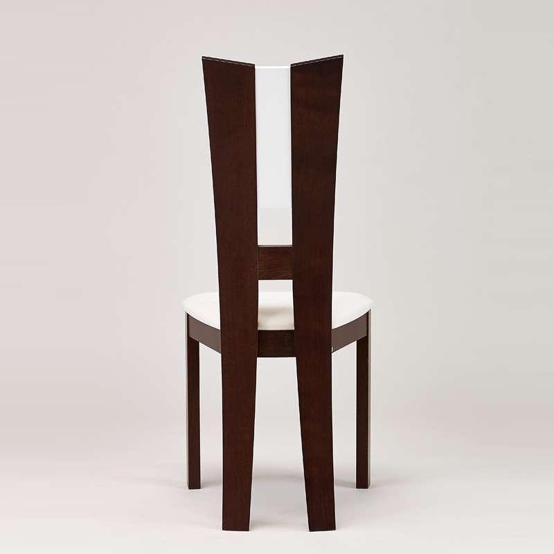 chaise de salle manger contemporaine fran aise en synth tique et bois massif floriane 4. Black Bedroom Furniture Sets. Home Design Ideas