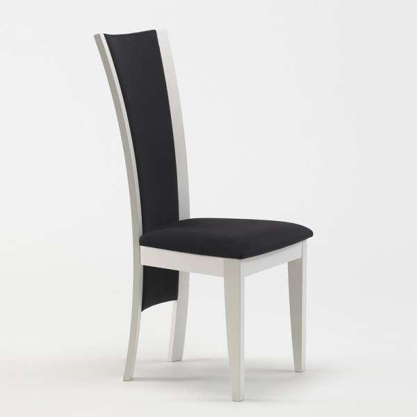 chaise de s jour contemporaine en tissu et bois massif. Black Bedroom Furniture Sets. Home Design Ideas