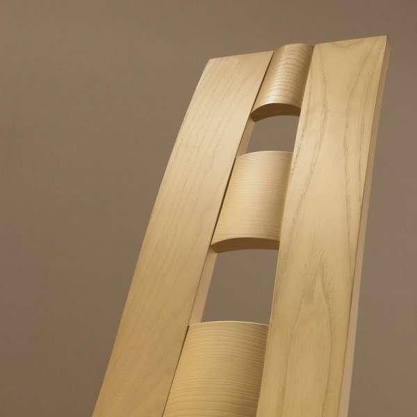 Chaise de séjour de fabrication française en vinyle et bois - Ambre 2 - 2