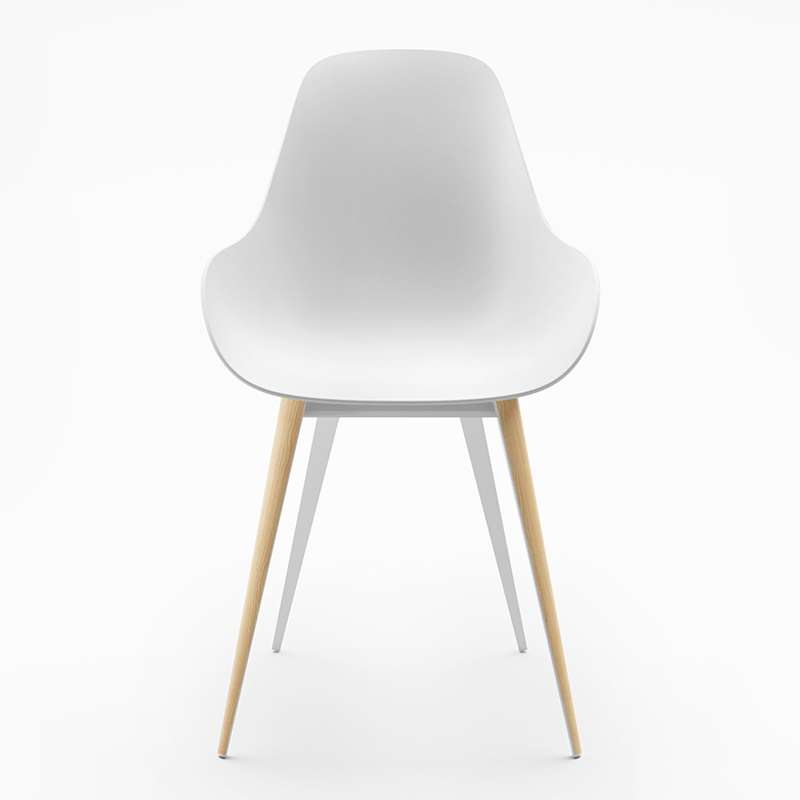 Chaise blanche design scandinave for Chaise scandinave blanche