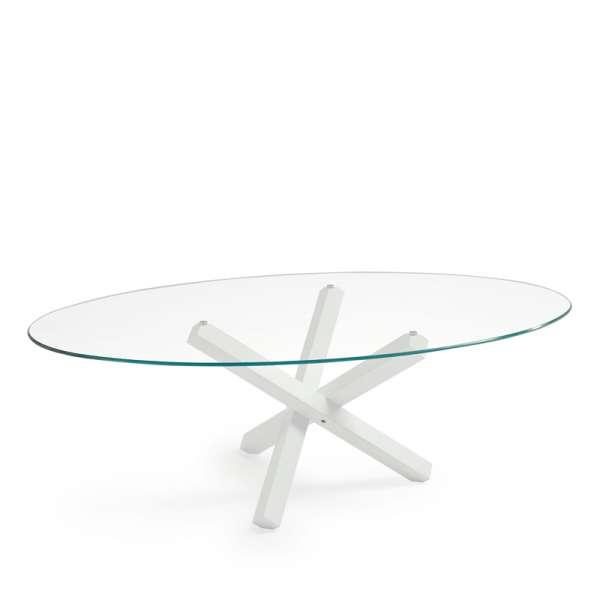 Table de salle à manger ovale design en verre - Aikido Sovet® 5 - 5