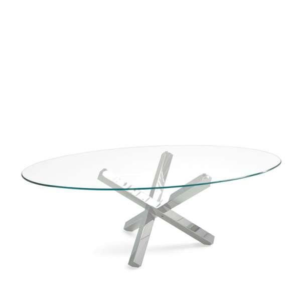 Table de salle à manger ovale design en verre - Aikido Sovet® 7 - 7