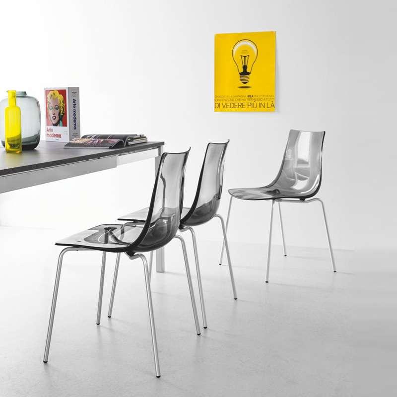 Chaise Design En Mtal Et Plexi Led With Plexiglass