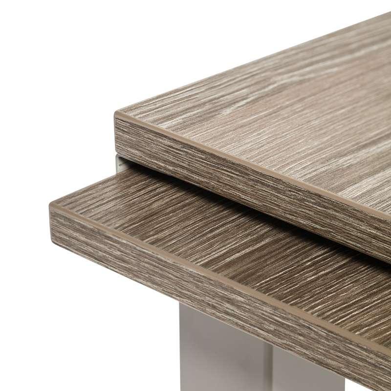 table de cuisine extensible en stratifié - vienna - 4 pieds