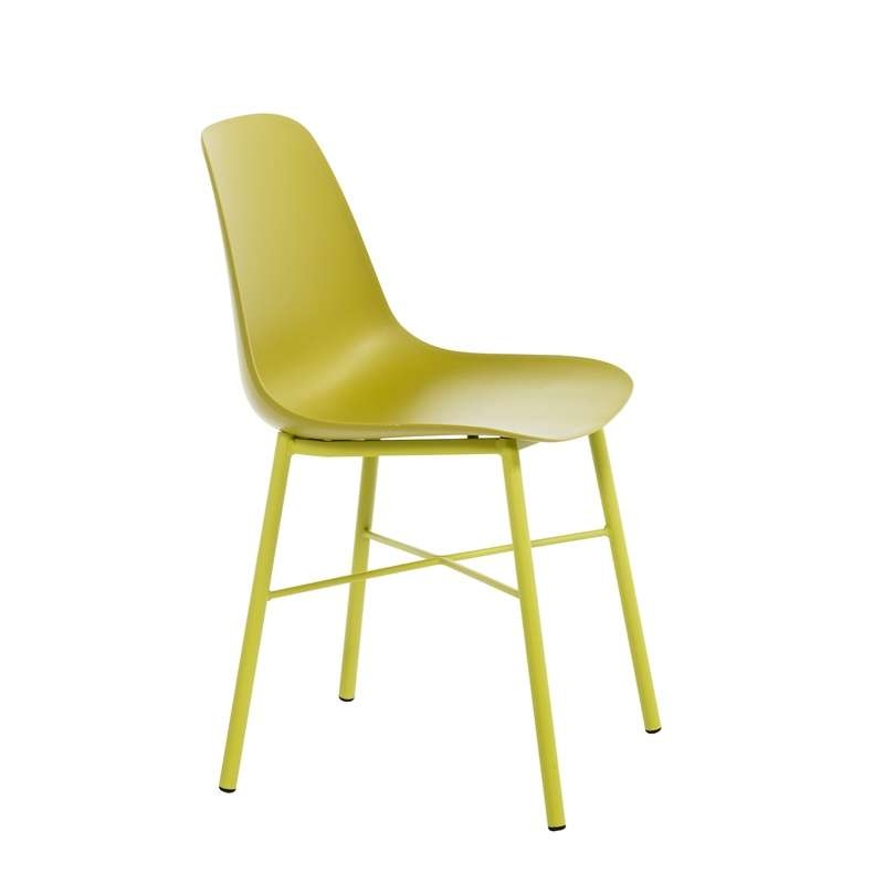 Chaise metal couleur beautiful chaise mtal rtro jaune for Chaise metal couleur
