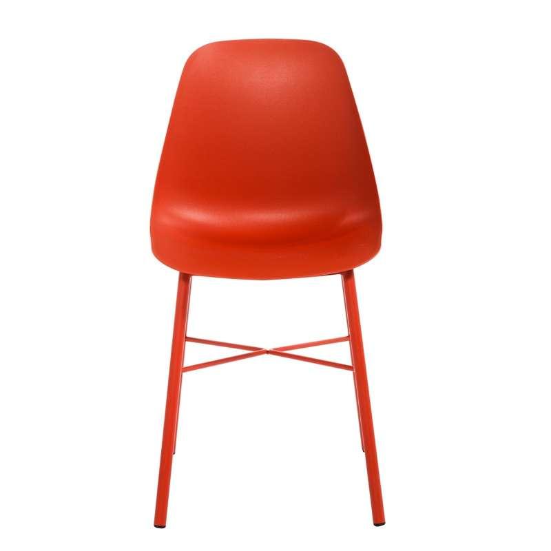 Chaise moderne en polypropyl ne et m tal cloe 4 pieds tables chaises e - Chaise en polypropylene ...
