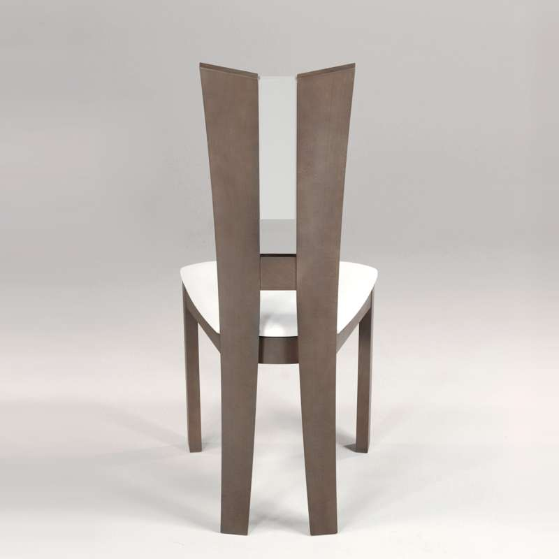 chaise de salle manger contemporaine en vinyle et bois massif floriane 3 4