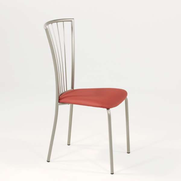 Chaise de cuisine en vinyl et métal - Jana 5 - 5
