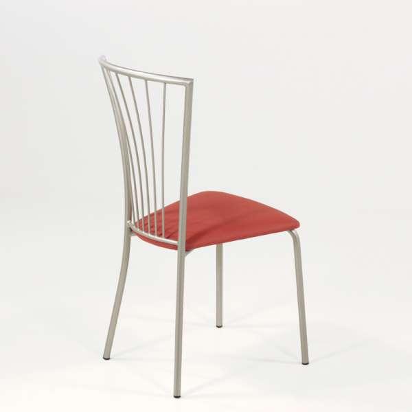 Chaise de cuisine en vinyl et métal - Jana 9 - 9