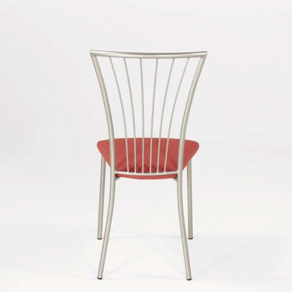 Chaise de cuisine en vinyl et métal - Jana 10 - 10