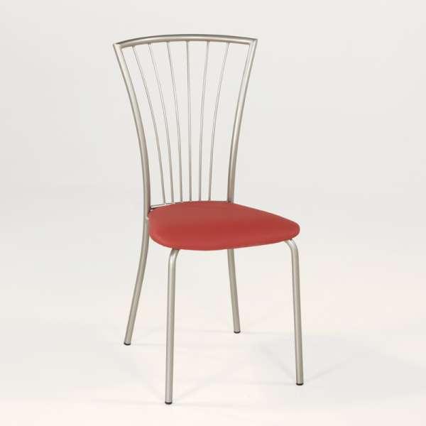 Chaise de cuisine en vinyl et métal - Jana 6 - 6