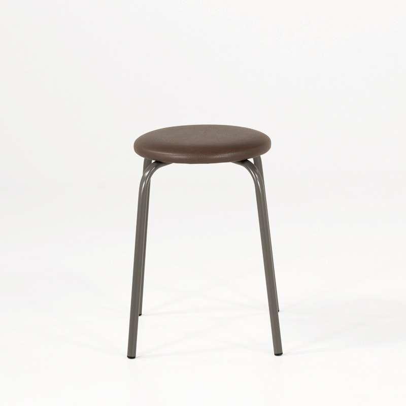 tabouret bas empilable en m tal tabrond 4 pieds tables chaises et tabourets. Black Bedroom Furniture Sets. Home Design Ideas