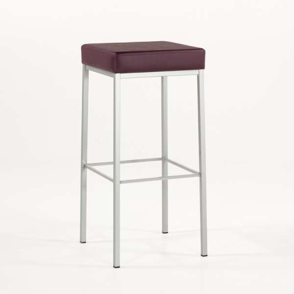 tabouret de bar sans dossier en m tal quadra 4. Black Bedroom Furniture Sets. Home Design Ideas