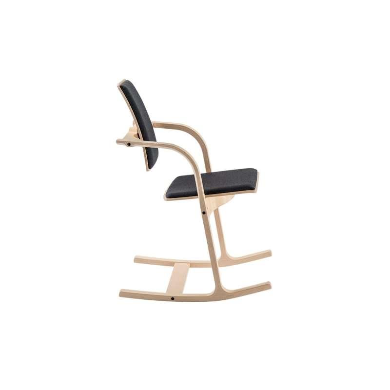 fauteuil de bureau ergonomique en tissu et bois actulum varier 4 pieds tables chaises et. Black Bedroom Furniture Sets. Home Design Ideas