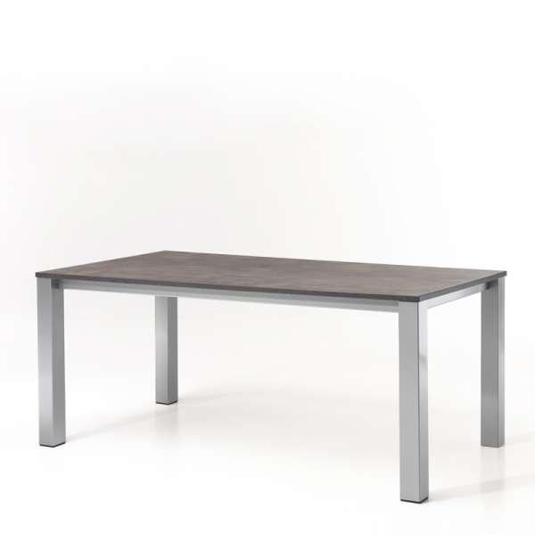 Table de cuisine rectangulaire en mélaminé et métal - Costa