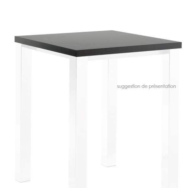 Plateau de table carré ou rectangle en stratifié - Quadra