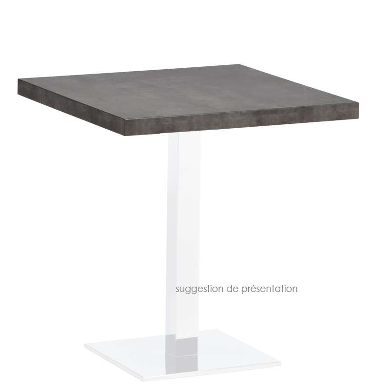 plateau de table carré ou rectangle en stratifié - quadra - 4