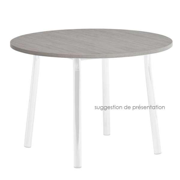 Plateau de table rond ou carré en stratifié 3 - 3