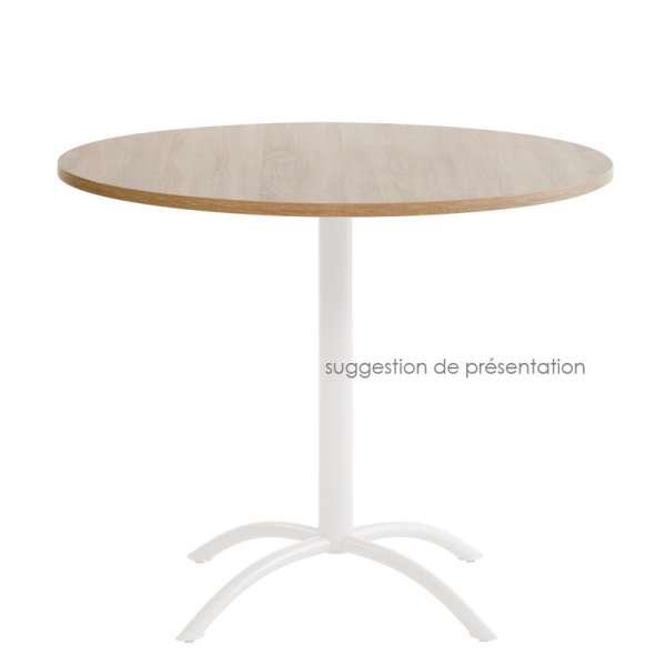 Plateau de table rond ou carré en stratifié 4 - 4
