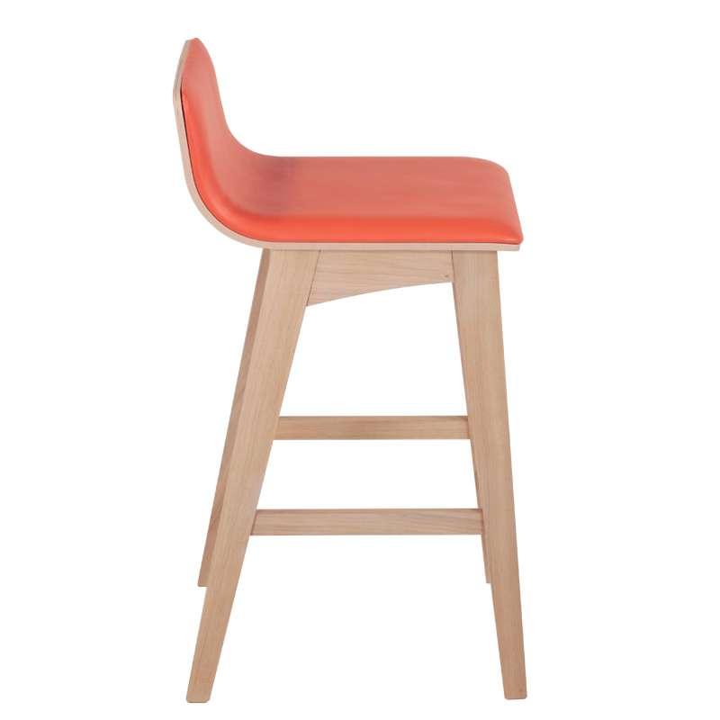 tabouret de bar ou snack moderne en bois enoa 4 pieds. Black Bedroom Furniture Sets. Home Design Ideas