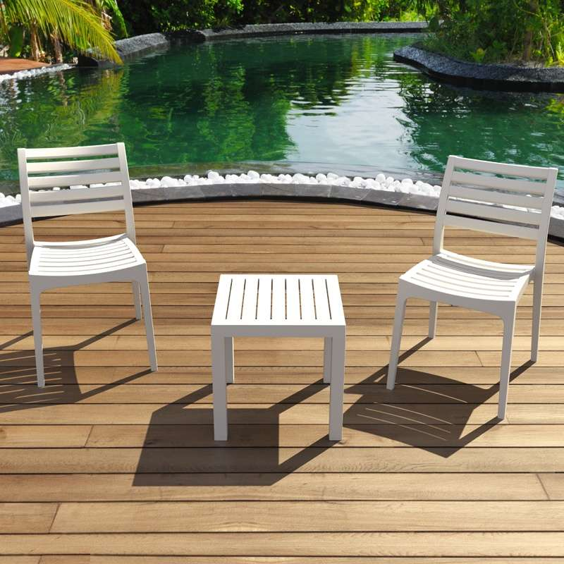 Chaise de jardin contemporaine en polypropyl ne ares 4 - Table de jardin contemporaine ...