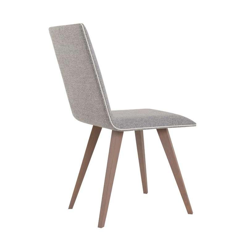 chaise moderne en bois et tissu enoa 4. Black Bedroom Furniture Sets. Home Design Ideas