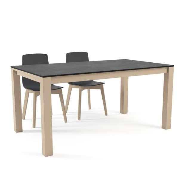 Table moderne en c ramique extensible quadra 4 pieds for Table extensible moderne