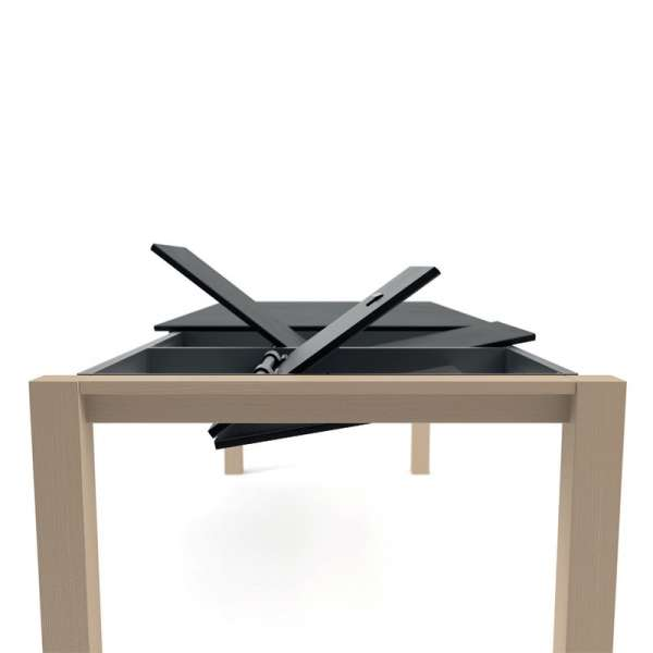 Système d'allonge en portefeuille - Table Quadra céramique - 2 - 6