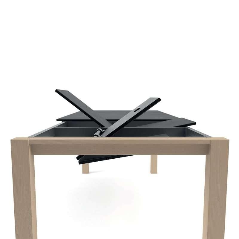 table moderne en c ramique extensible quadra 4 pieds. Black Bedroom Furniture Sets. Home Design Ideas