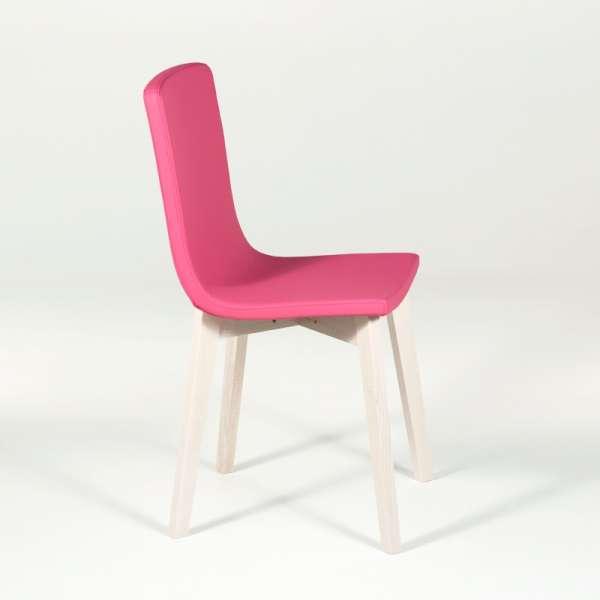 Chaise design en bois et tissu PVC - Eclipse confort 6 - 2