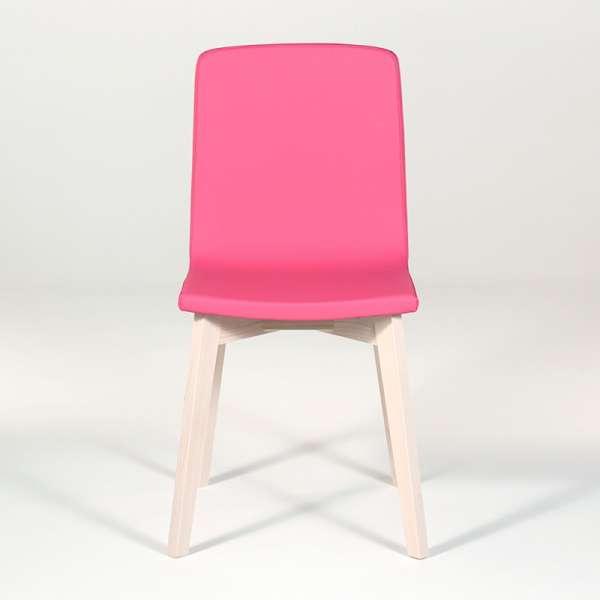 Chaise design en bois et tissu PVC - Eclipse confort 8 - 4