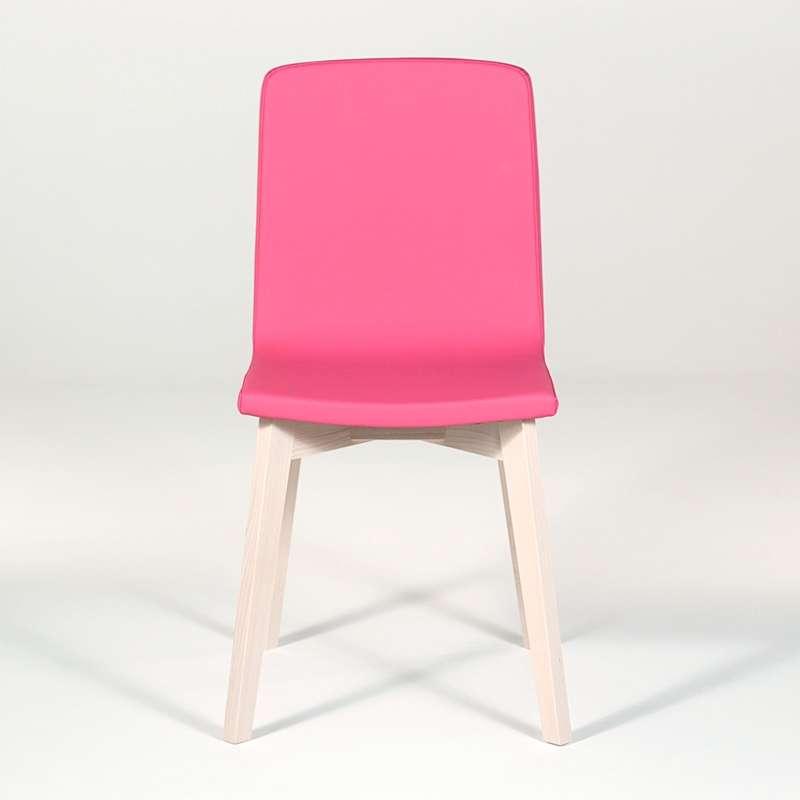 chaise moderne en bois et tissu synth tique eclipse confort 4 pieds tables chaises et. Black Bedroom Furniture Sets. Home Design Ideas