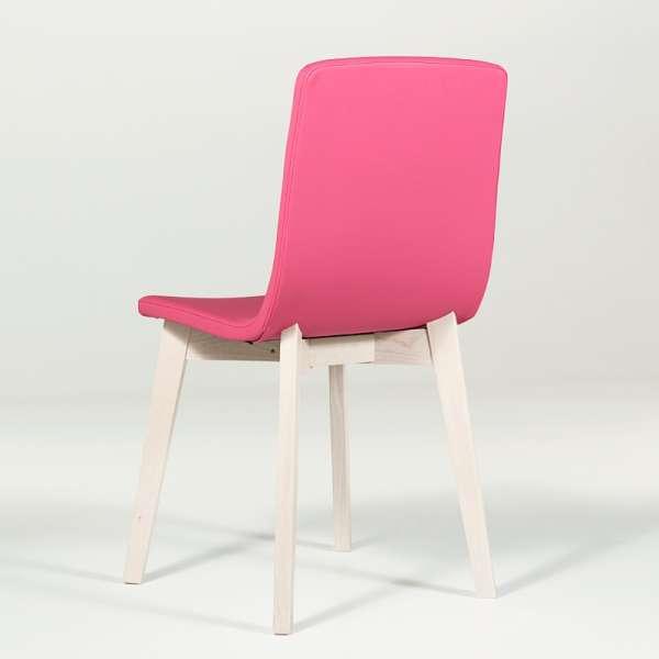 Chaise design en bois et tissu PVC - Eclipse confort 11 - 7