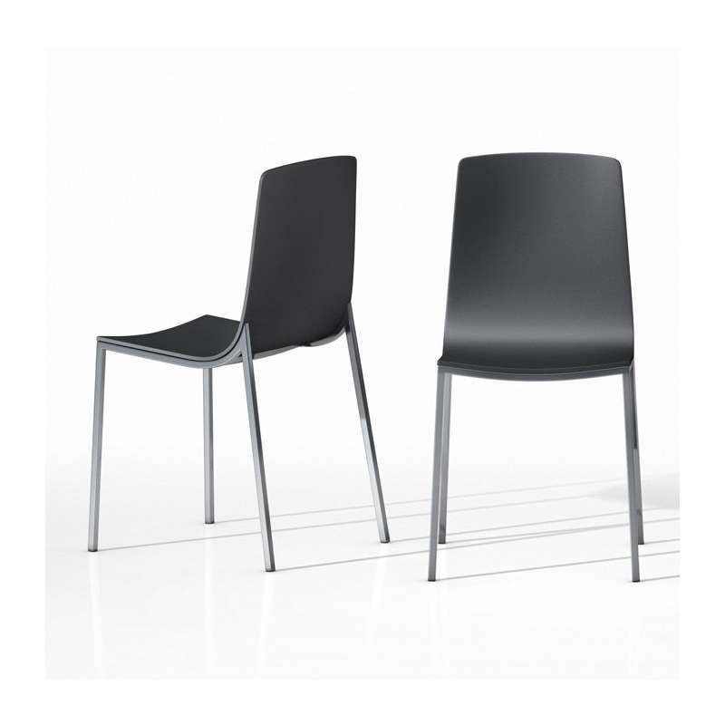 chaise de cuisine design en m tal et bois hot 4 pieds. Black Bedroom Furniture Sets. Home Design Ideas