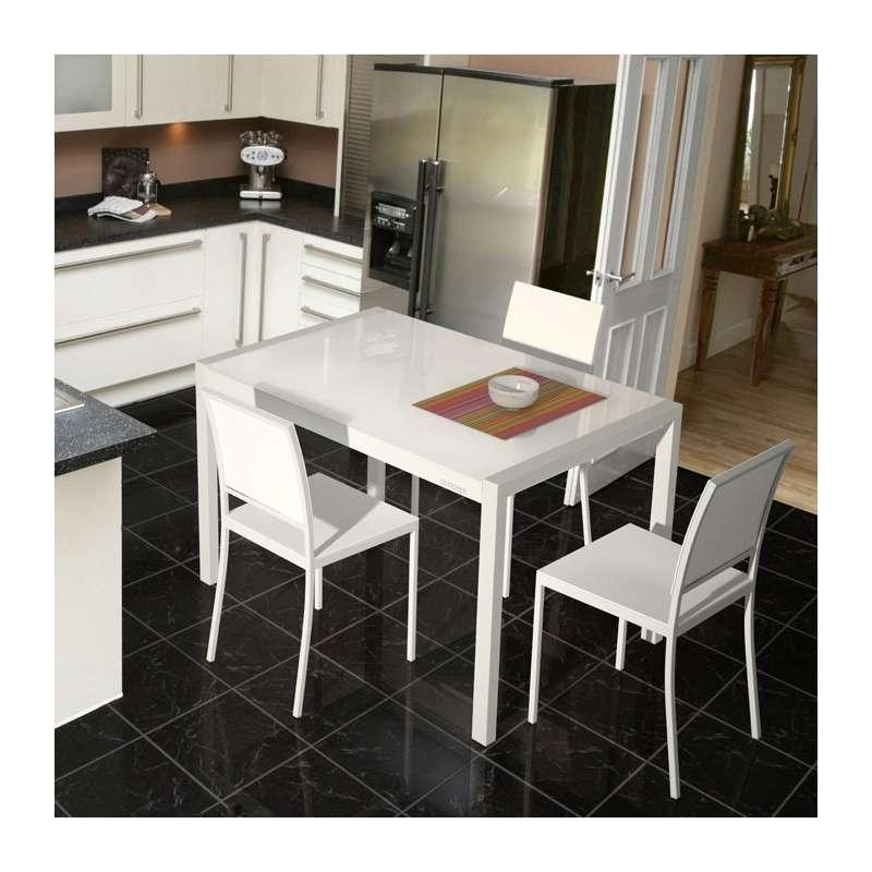 table en verre extensible concept 4 pieds tables chaises et tabourets. Black Bedroom Furniture Sets. Home Design Ideas