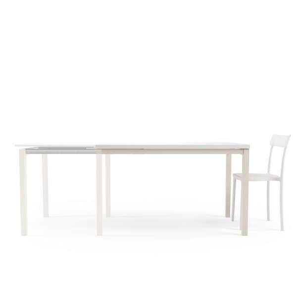 Table de cuisine en verre avec rallonge toy bois 4 for Table cuisine verre trempe