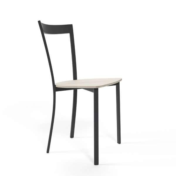 Chaise de cuisine métal et bois - Spirit